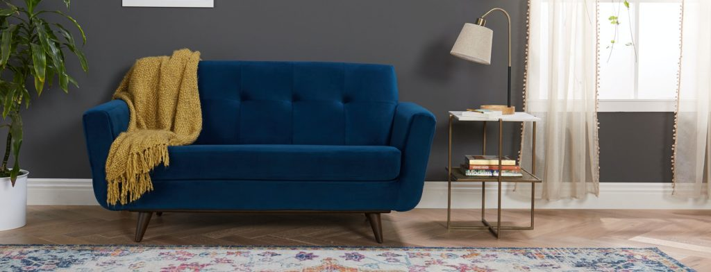 Hughes Apartment Sofa Royale Cobalt