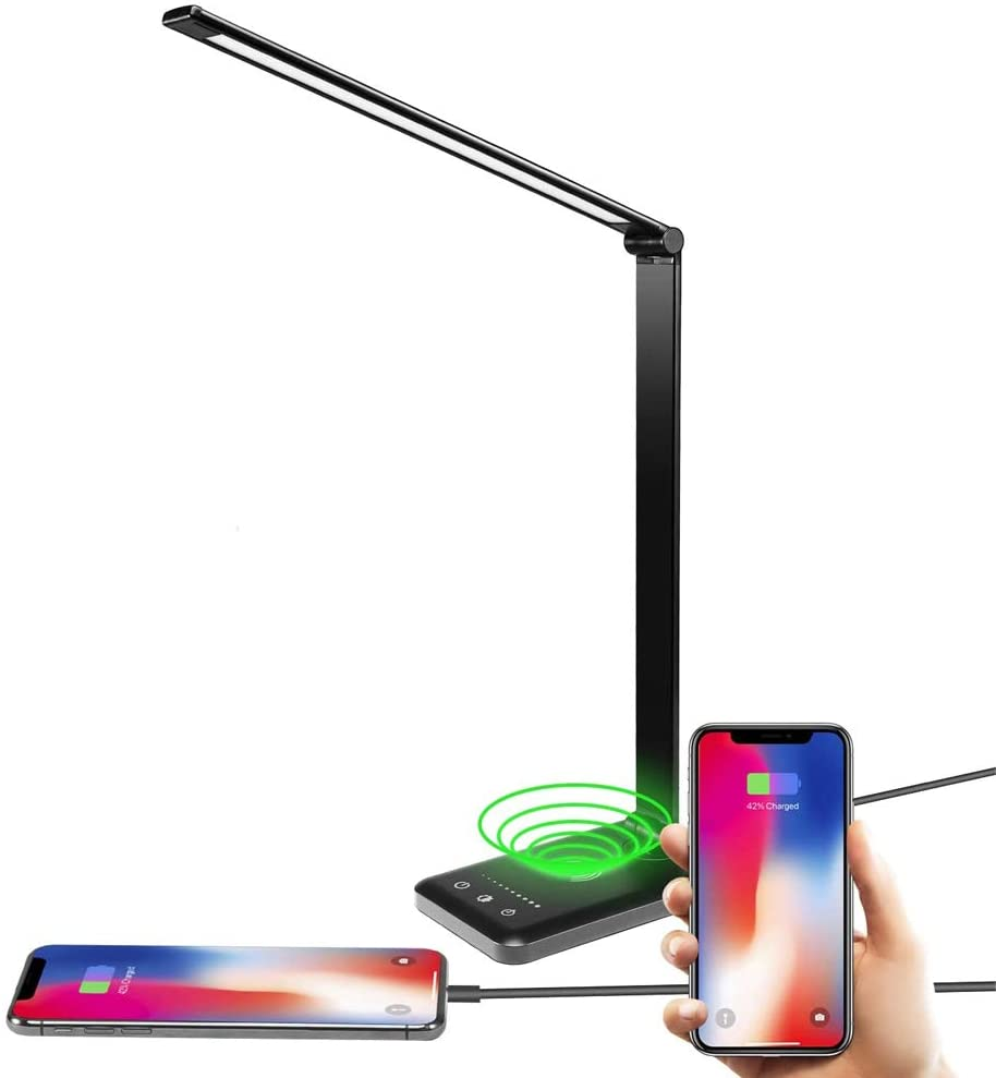 COZYMOOD Smart LED Desk Lamp with Wireless Charger