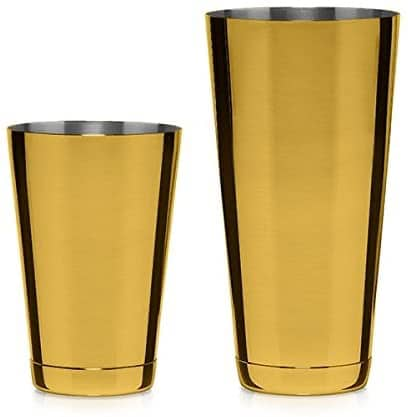 Cocktail Kingdom Gold-Plated Shaking Tin Set