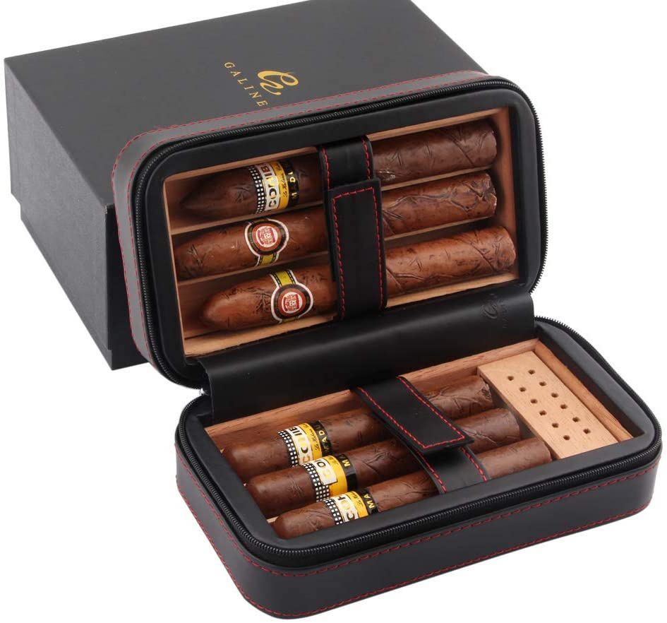 Galiner Portable Leather Humidor