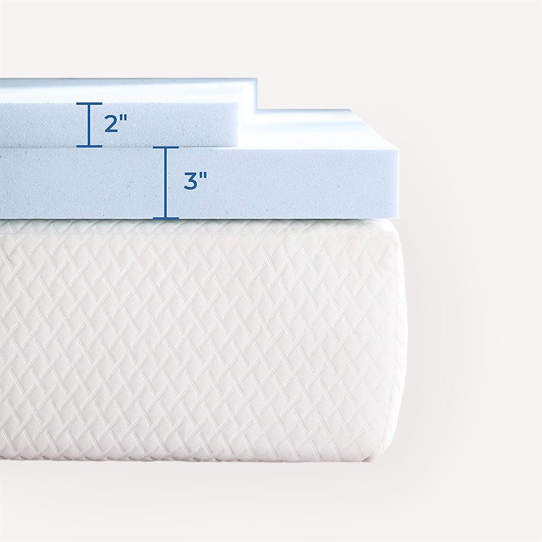 Linenspa 3 Inch Gel Infused Memory Foam Mattress