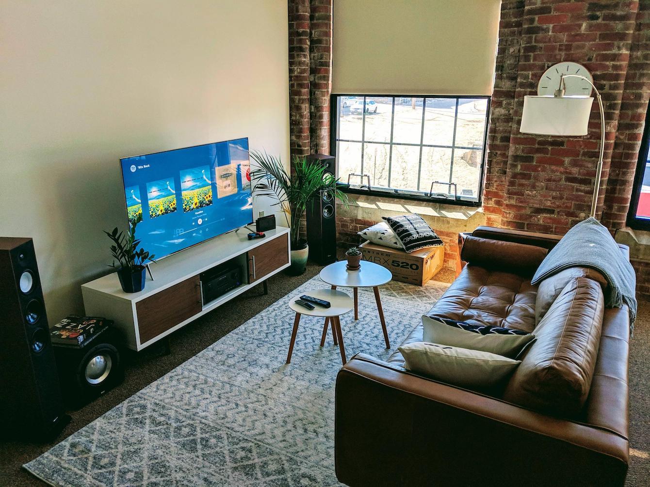 Casual Movie and Music Setup