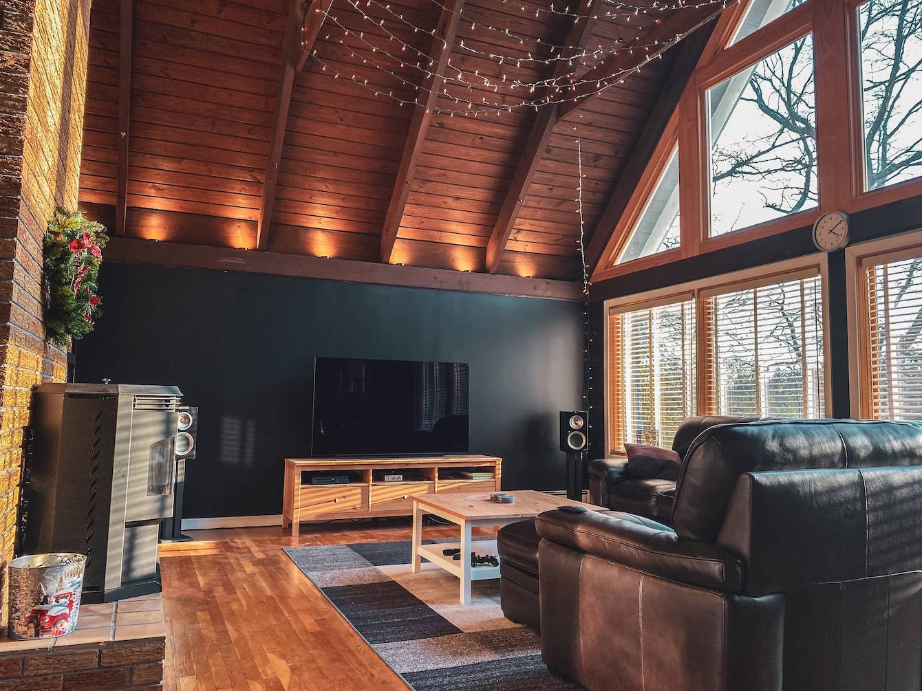 Hardwood Living Room and Listening Space