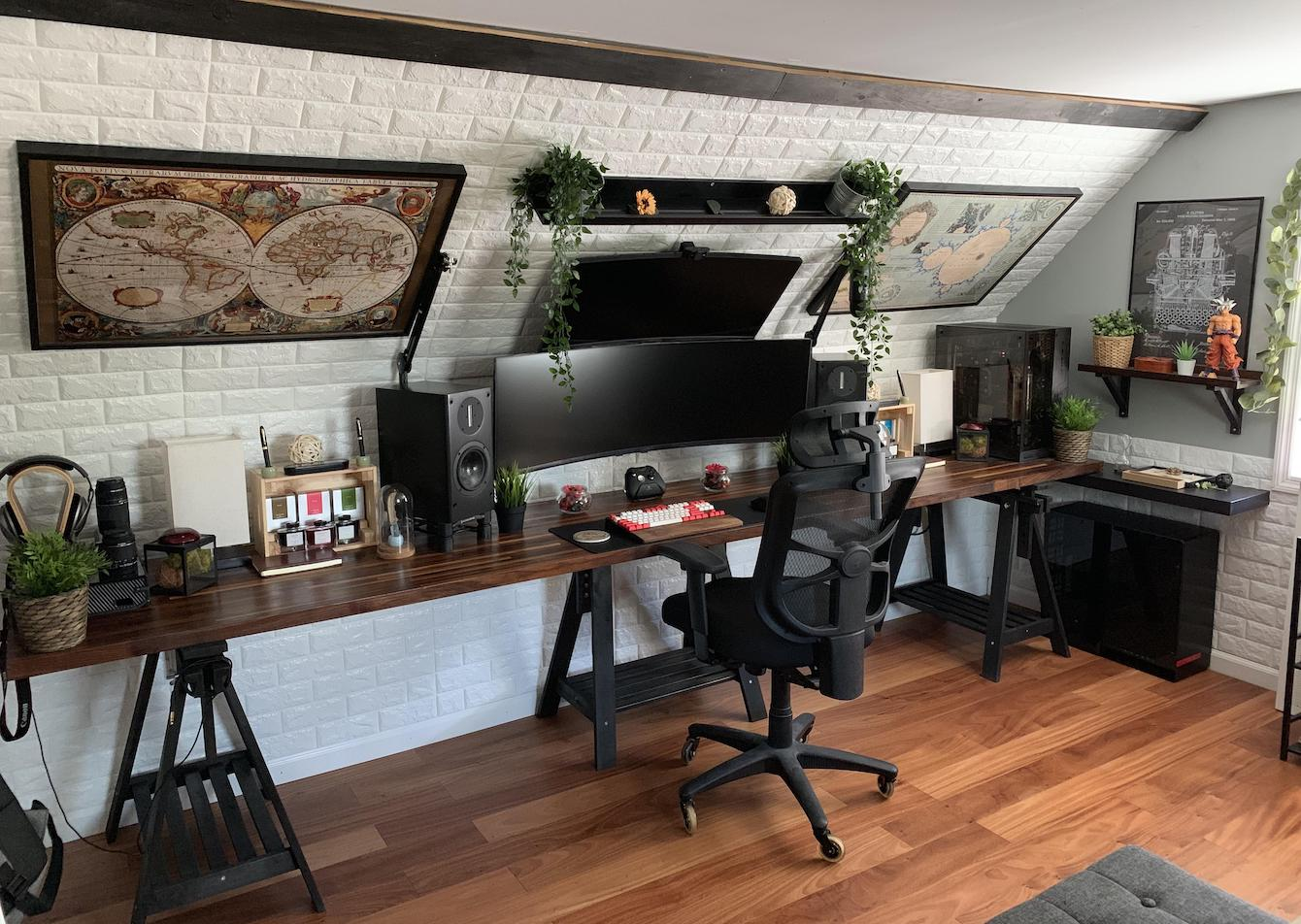Long and Lofted Office Space