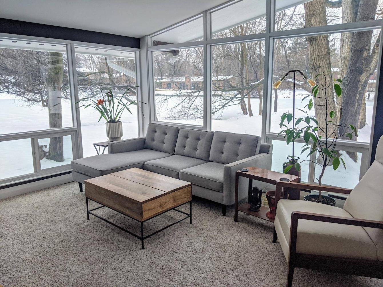Metro Detroit Living Room With Huge Windows