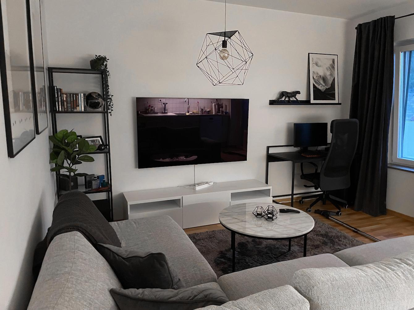 Unfinished (But Excellent) Greyscale Living Room
