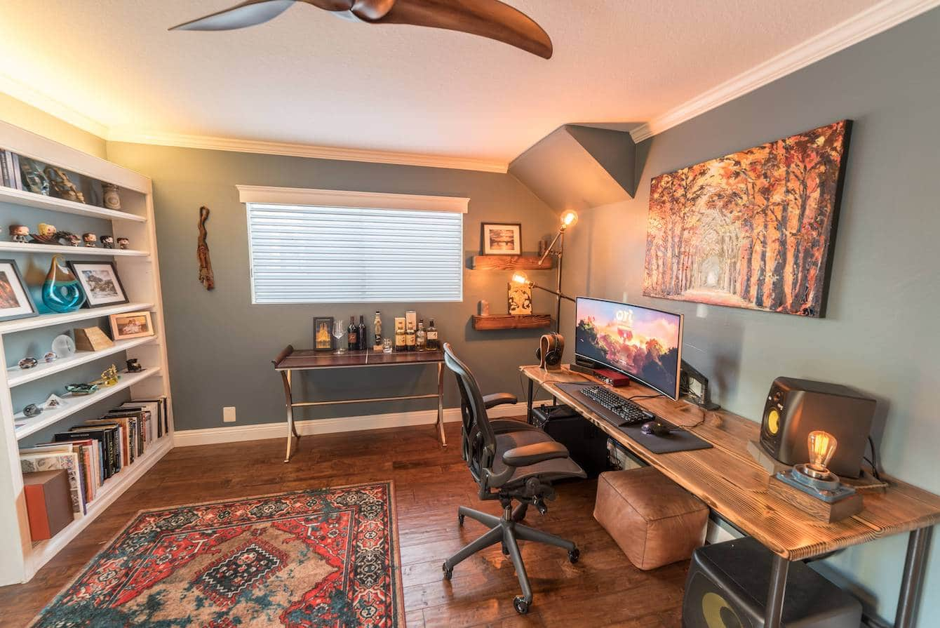 Warm and Inviting Office Room