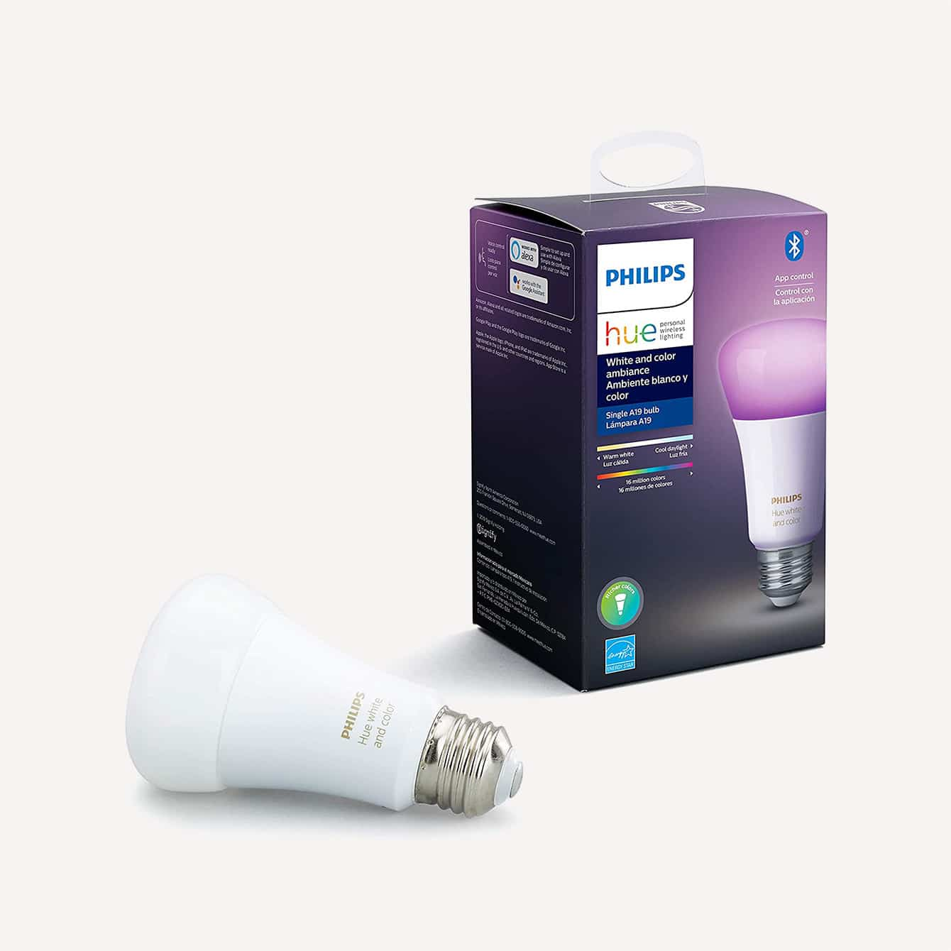 Philips Hue White and Color Ambiance A19 LED Smart Bulb