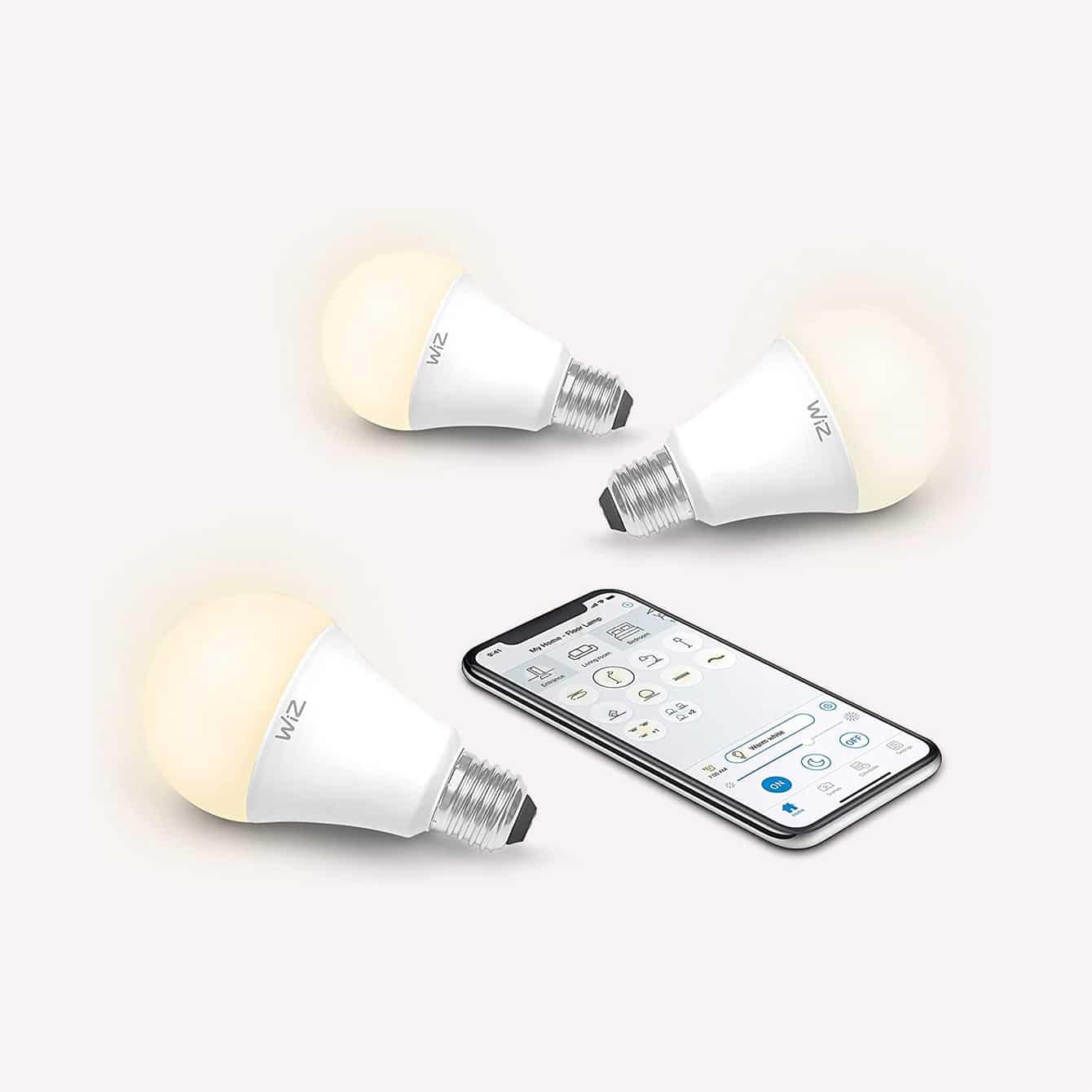 WiZ IZ0026023 60 Watt EQ A19 Smart Wifi Connected LED Light Bulbs